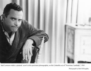 """Jack Lemmon on the set of""""Notorious Landlady."""" 1962 Columbia © 1978 Bob Willoughby - Image 0894_0227"""