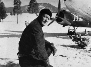 """John Wayne on location in the High Sierras for """"Island in the Sky"""" 1953 Warner Brothers - Image 0898_0007"""