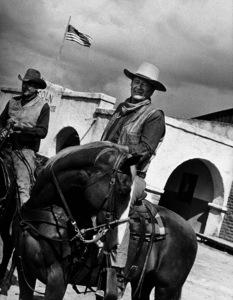 """John Wayne and Ben Johnson in """"Chisum,"""" Warner Bros. 1970. - Image 0898_0769"""