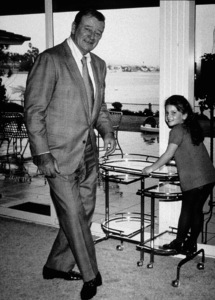 John Wayne and his daughter, Marisa, at home, 1970. © 1978 David Sutton - Image 0898_0839
