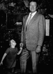 John Wayne and his daughter, Marisa, at home, 1970. © 1978 David Sutton - Image 0898_0840