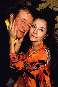 John Wayne and his wife, Pilar, at home, 1970. © 1978 David Sutton - Image 0898_0856