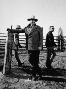 "John Wayne on location for ""The Cowboys,"" Warner Bros. 1971. © 1978 David Sutton - Image 0898_1120"