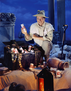 John Wayne in a Rheingold Beer advertisementcirca 1955© 1978 Paul Hesse - Image 0898_2003