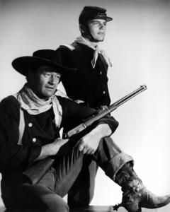 "John Wayne and his son, Patrick, in ""The Searchers."" 1956 Warner Bros. - Image 0898_2023"