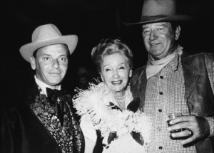 John Wayne, Frank Sinatra, and Hedda Hopper, circa 1972. © 1978 David Sutton - Image 0898_2092