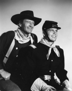 """John Wayne and his son Patrick in """"The Searchers""""1956 Warner Brothers - Image 0898_2093"""