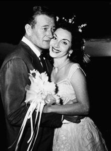 John Wayne and his bride, Pilar, at their wedding in Hawaii1954 - Image 0898_2997
