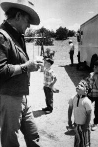 "John Wayne on location in Colorado for ""The Cowboys,"" Warner Bros. 1971. © 1978 Bob Willoughby - Image 0898_3007"