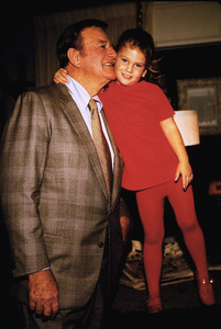 John Wayne and his daughter, Marisa, at home, 1970. © 1978 David Sutton - Image 0898_3010