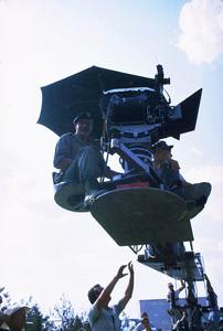 "John Wayne, co-director, during the filming of ""The Green Berets,"" Warner Bros. 1967. © 1978 David Sutton - Image 0898_3056"
