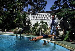 John, Ethan, and Marisa Wayne at home, 1972. © 1978 David Sutton - Image 0898_3079
