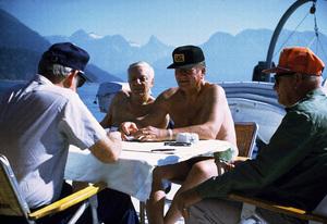 John Wayne on his yacht Wild Goose 1971 © 1978 David Sutton - Image 0898_3084