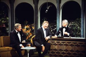 "John Wayne, Ed McMahon, and Johnny Carson on ""The Tonight Show,"" NBC 1972. © 1978 David Sutton - Image 0898_3100"