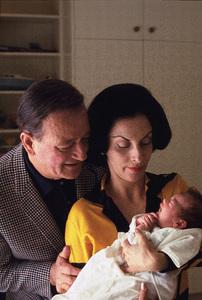 John, Pilar, and baby Marisa Wayne at home 1966 © 1978 Bernie Abramson - Image 0898_3101