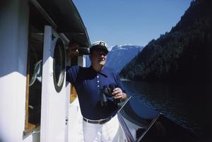 "John Wayne on his yacht ""Wild Goose""1971 © 1978 David Sutton - Image 0898_3109"