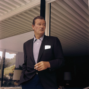 John Wayne at home on Louise Street in Encino, California1958© 1978 Bernie Abramson - Image 0898_3112
