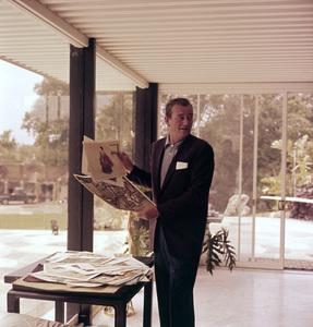 John Wayne at home on Louise Street in Encino, CA 1958 © 1978 Bernie Abramson - Image 0898_3116