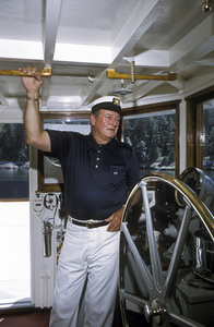 "John Wayne on his yacht ""Wild Goose""1971 © 1978 David Sutton - Image 0898_3134"