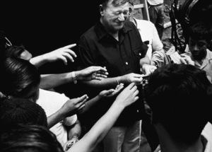 John Wayne signing autographs for fans, circa 1970. © 1978 David Sutton - Image 0898_3139