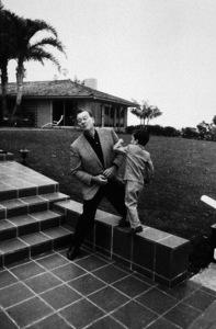 John Wayne and his son, Ethan 1966 © 1978 Bernie Abramson - Image 0898_3144