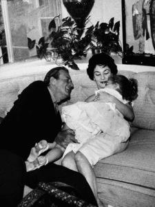 John, Aissa, and Pilar Wayne at home on Louise St. in Encino, CA, 1958. © 1978 Bernie Abramson - Image 0898_3145