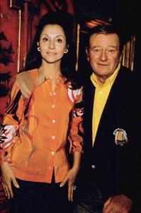 John Wayne and his wife, Pilar, 1970. © 1978 David Sutton - Image 0898_3159