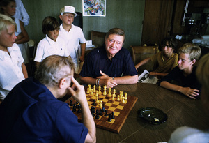 John Wayne, playing chess, 1974. © 1978 David Sutton - Image 0898_3207