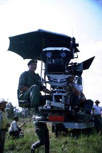 "John Wayne and Ray Kellogg, directors, on location for ""The Green Berets,"" Warner Bros. 1967. © 1978 David Sutton - Image 0898_3208"