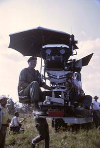 "John Wayne and Ray Kellogg, directors, on location for ""The Green Berets""1967© 1978 David Sutton - Image 0898_3208"