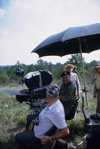 "John Wayne and Ray Kellogg, directors, on location for ""The Green Berets,"" Warner Bros. 1967. © 1978 David Sutton - Image 0898_3209"