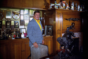 John Wayne in his trophy room at home, 1972. © 1978 David Sutton - Image 0898_3227