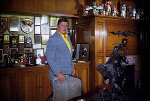 John Wayne in his trophy room at home, 1972. © 1978 David Sutton - Image 0898_3227