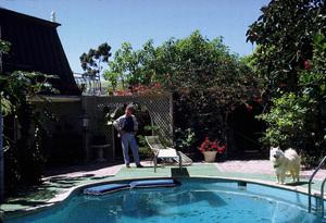 John Wayne at home, 1972. © 1978 David Sutton - Image 0898_3231