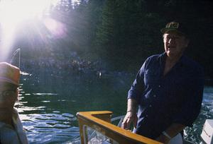 John Wayne fishing with Jim Cunningham, 1971. © 1978 David Sutton - Image 0898_3238