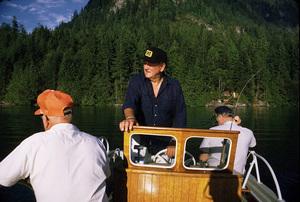 John Wayne fishing with Jim Cunningham and Ken Reafsnyder, 1971. © 1978 David Sutton - Image 0898_3239