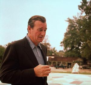 John Wayne at home on Louise St. in Encino, CA, 1958. © 1978 Bernie Abramson - Image 0898_3261