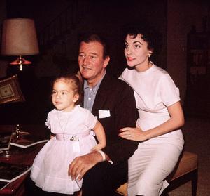John, Aissa, and Pilar Wayne at home on Louise St. in Encino, CA, 1958. © 1978 Bernie Abramson - Image 0898_3269