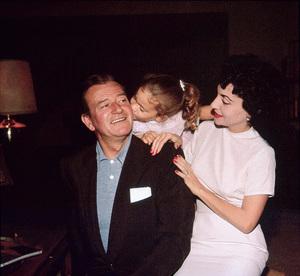 John, Aissa, and Pilar Wayne at home on Louise St. in Encino, CA, 1958. © 1978 Bernie Abramson - Image 0898_3270