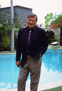 John Wayne at home, 1972. © 1978 David Sutton - Image 0898_3280