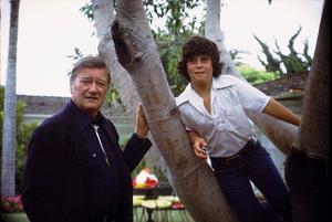 John Wayne and his son, Ethan, at home, 1972. © 1978 David Sutton - Image 0898_3281