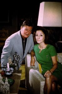 John Wayne and his wife, Pilar, at home, 1972. © 1978 David Sutton - Image 0898_3282