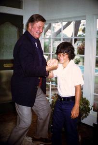 John Wayne and his son, Ethan, at home, 1972. © 1978 David Sutton - Image 0898_3287