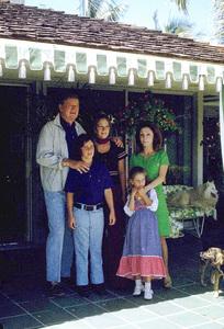John, Ethan, Aissa, Marisssa, and Pilar Wayne at home, 1972. © 1978 David Sutton - Image 0898_3295