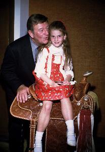 John Wayne and his daughter, Marisa, at home, 1972. © 1978 David Sutton - Image 0898_3310