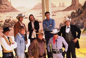 John Wayne, Clint Walker, David Carradine, Michael Ansara, High O