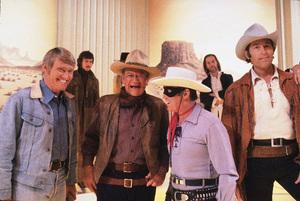 John Wayne, Chuck Connors, Clayton Moore, Clint Walker, circa 1978. © 1978 Gunther - Image 0898_3341