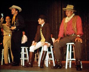 John Wayne, Sammy Cahn, Vince Edwards, and Paul Newman, circa 1962. © 1978 David Sutton - Image 0898_3346