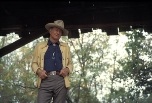 John Wayne during a photo shoot for a Great Western Savings advertisement1977 © 1978 David Sutton - Image 0898_3380