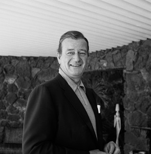 John Wayne at his home on Louise Street in Encino, CA 1958 © 1978 Bernie Abramson - Image 0898_3386
